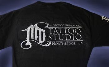 Md tattoo studio md tattoo gear for sale mdtattoos t shirt for Tattoo clothing shop